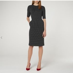 NWT LK Bennett LIYA NAVY POLKA DOT DRESS